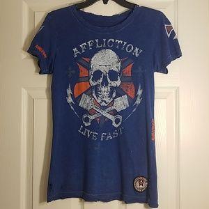 Affliction shirt women's medium